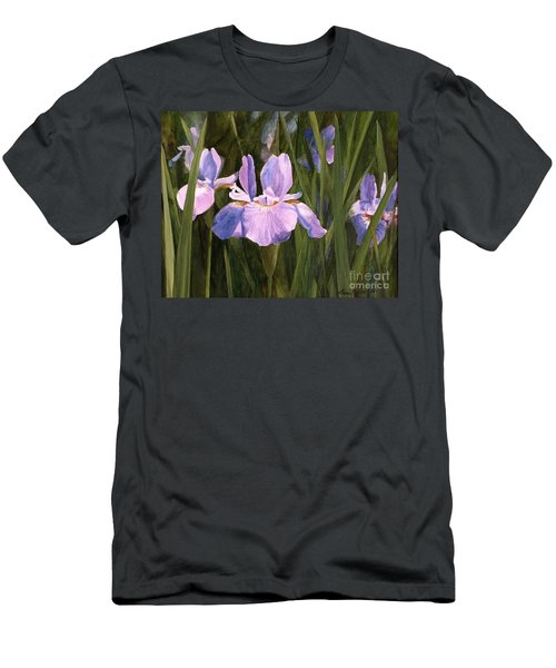 Wild Iris Men's T-Shirt (Slim Fit) by Laurie Rohner