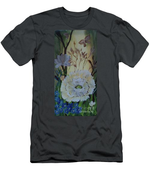 Wild Rose In The Forest Men's T-Shirt (Slim Fit) by Donna Brown
