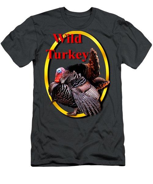 Wild Turkey Men's T-Shirt (Slim Fit) by John Furlotte