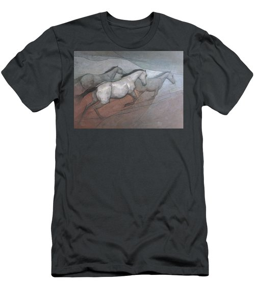 Wild White Horses Men's T-Shirt (Athletic Fit)
