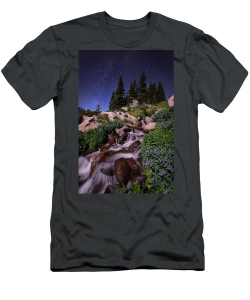 Wildflower Finale In The Indian Peaks Men's T-Shirt (Athletic Fit)