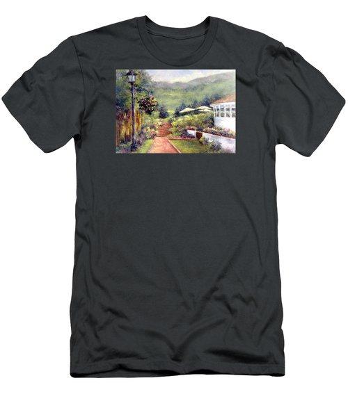 Wildflower Inn Men's T-Shirt (Slim Fit) by Jill Musser