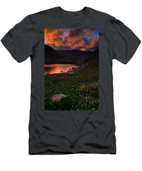 Wildflower Sunset At Summit Lake Men's T-Shirt (Athletic Fit)