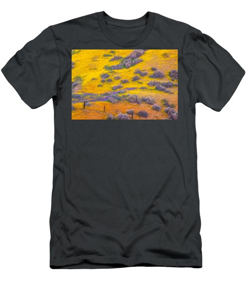 Wildflowers And Fence Men's T-Shirt (Slim Fit) by Marc Crumpler