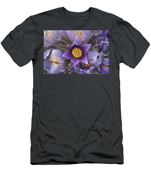 Wildflowers At The Delta Junction Bison Range Men's T-Shirt (Athletic Fit)