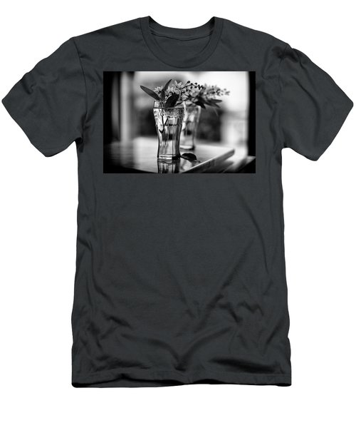 Men's T-Shirt (Athletic Fit) featuring the photograph Wildflowers Still Life by Laura Fasulo