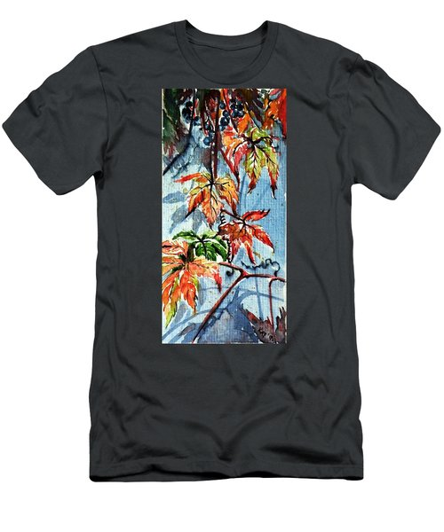 Men's T-Shirt (Slim Fit) featuring the painting Wildgrape by Kovacs Anna Brigitta