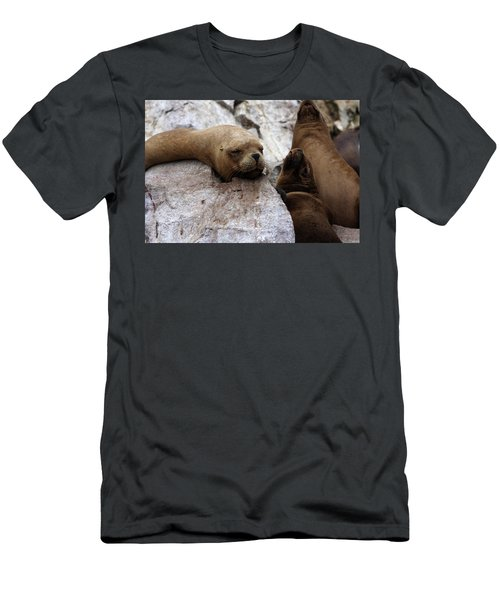 Men's T-Shirt (Slim Fit) featuring the photograph Wildlife Of The Ballestas Islands by Aidan Moran