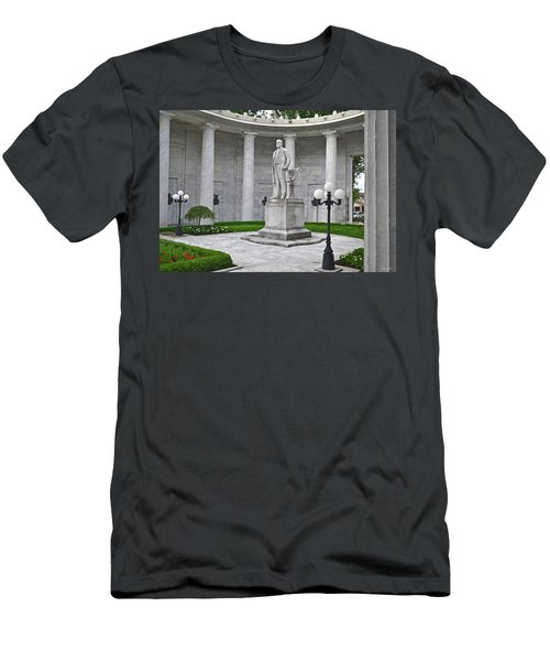 Men's T-Shirt (Slim Fit) featuring the photograph William Mckinley Memorial 004 by George Bostian