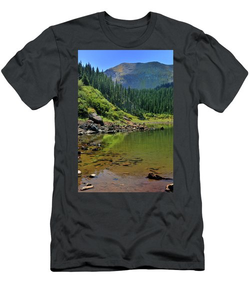 Men's T-Shirt (Athletic Fit) featuring the photograph Williams Lake by Ron Cline