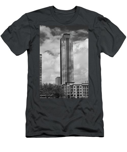 Williams Tower In Black And White Men's T-Shirt (Athletic Fit)