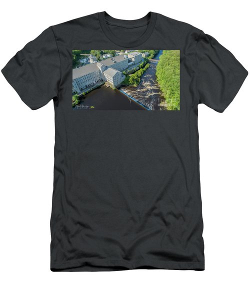 Willimantic River And Mill #2 Men's T-Shirt (Athletic Fit)