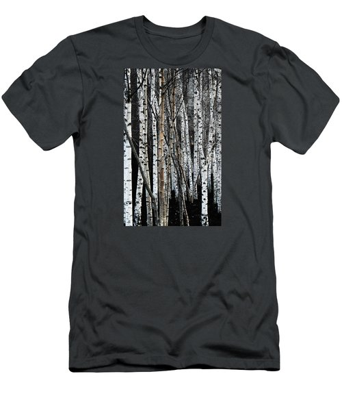 Men's T-Shirt (Athletic Fit) featuring the digital art Birch by Julian Perry