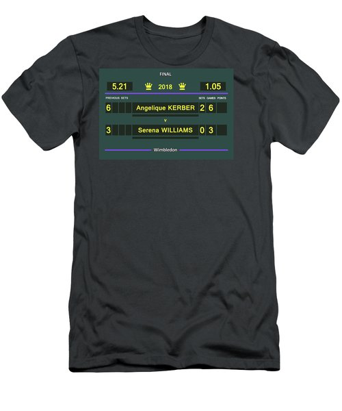 Wimbledon Scoreboard - Customizable - 2017 Muguruza Men's T-Shirt (Athletic Fit)