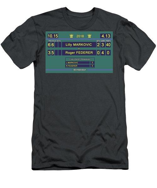 Wimbledon Scoreboard - Lilly Markovic - 4-13 Men's T-Shirt (Athletic Fit)