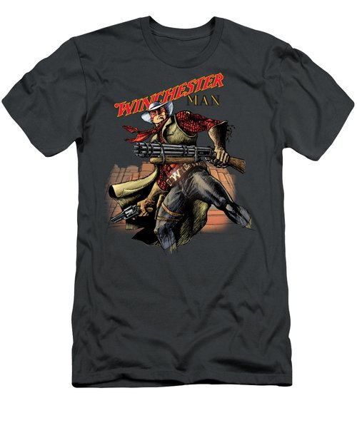 Winchester Man Transparent  Men's T-Shirt (Slim Fit)