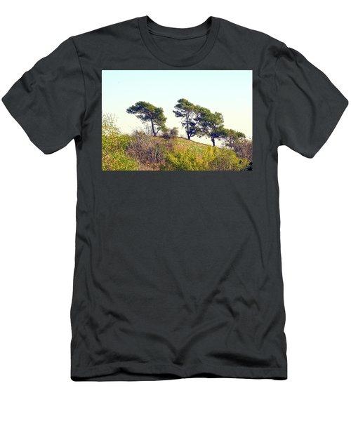 Wind Blown Trees Men's T-Shirt (Athletic Fit)