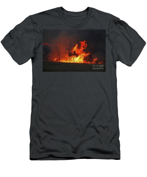 Wildfire Flames Men's T-Shirt (Athletic Fit)