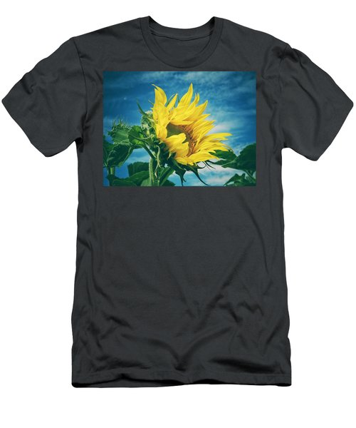 Men's T-Shirt (Slim Fit) featuring the photograph Windblown  by Karen Stahlros