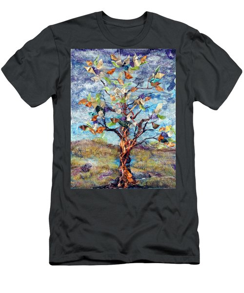 Windbreak Men's T-Shirt (Slim Fit) by Regina Valluzzi