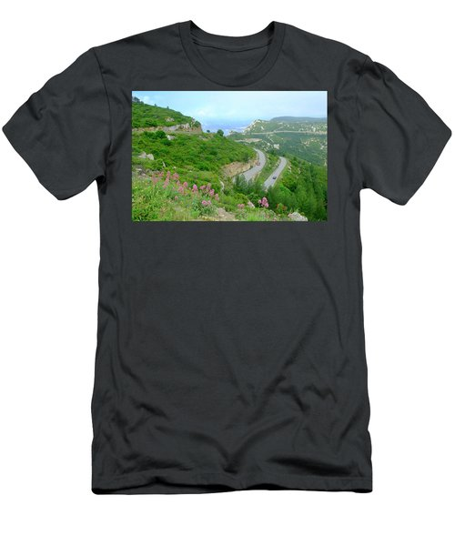 Men's T-Shirt (Athletic Fit) featuring the photograph Winding Road by August Timmermans