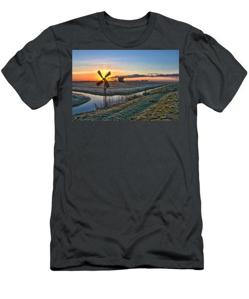 Windmill At Sunrise Men's T-Shirt (Athletic Fit)