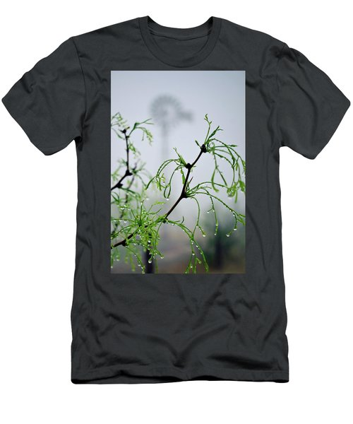 Windmill In The Mist Men's T-Shirt (Athletic Fit)