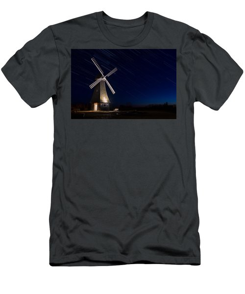 Windmill In The Night Men's T-Shirt (Athletic Fit)