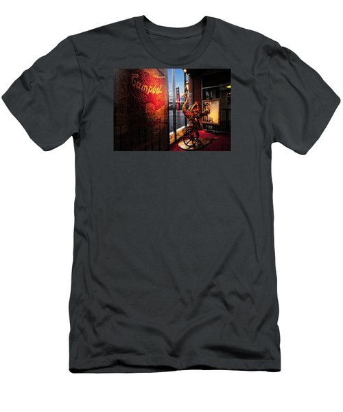 Men's T-Shirt (Slim Fit) featuring the photograph Window Art by Steve Siri