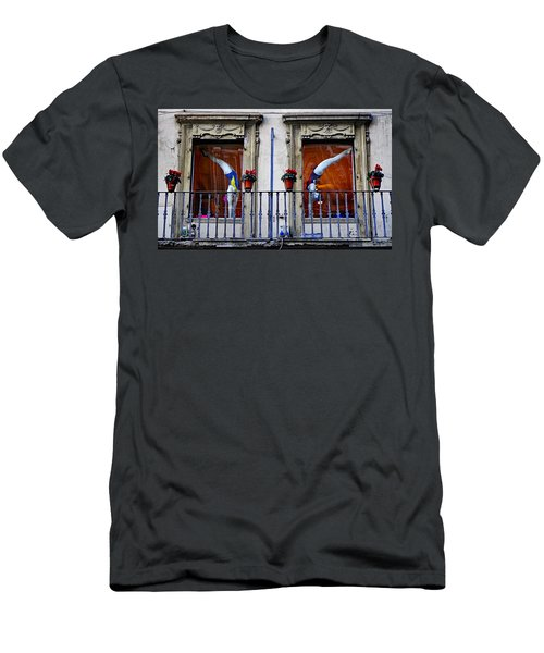 Window Dressing 2 In Florence Italy Men's T-Shirt (Athletic Fit)
