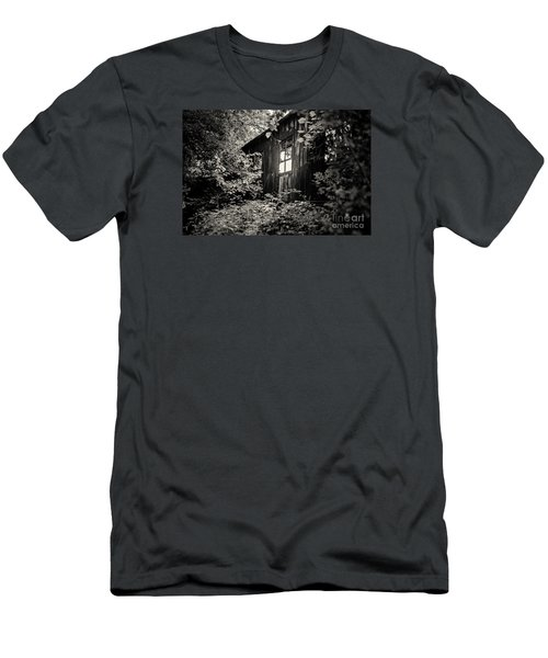 Men's T-Shirt (Slim Fit) featuring the photograph Window In The Woods by Randall  Cogle