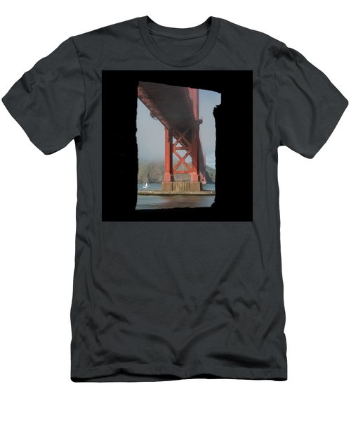 Men's T-Shirt (Athletic Fit) featuring the photograph window to the Golden Gate Bridge by Stephen Holst