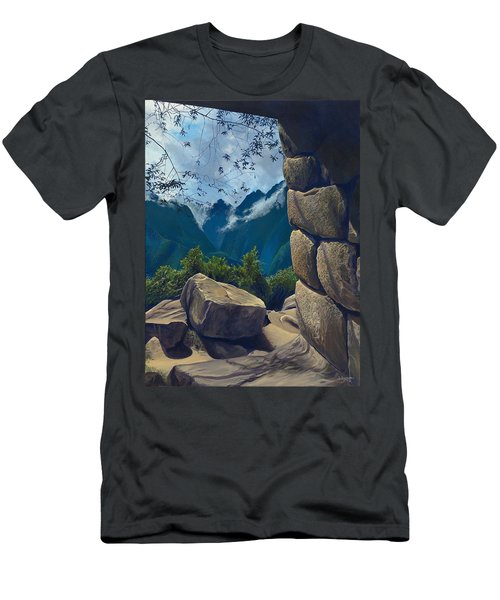 Window To The Past Men's T-Shirt (Slim Fit)