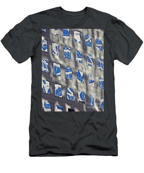 Men's T-Shirt (Slim Fit) featuring the photograph Windows Of 2 World Financial Center 3 by Sarah Loft
