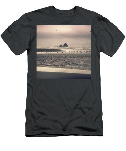 Men's T-Shirt (Athletic Fit) featuring the photograph Windy Balmy Day At The Beach by Tikvah's Hope