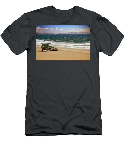 Men's T-Shirt (Slim Fit) featuring the photograph Windy Beach Day by Joseph Hollingsworth