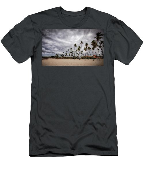 Windy Beach Men's T-Shirt (Athletic Fit)