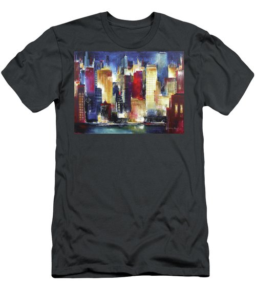 Windy City Nights Men's T-Shirt (Athletic Fit)