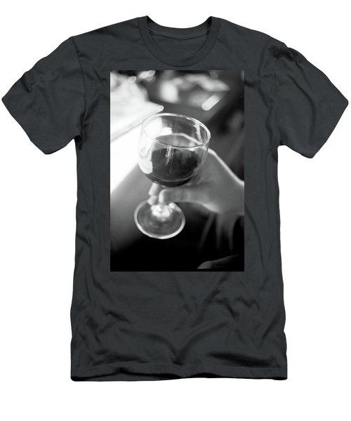 Wine In Hand Men's T-Shirt (Athletic Fit)