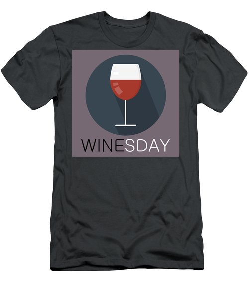 Wine Poster Print - It's Winesday Men's T-Shirt (Athletic Fit)
