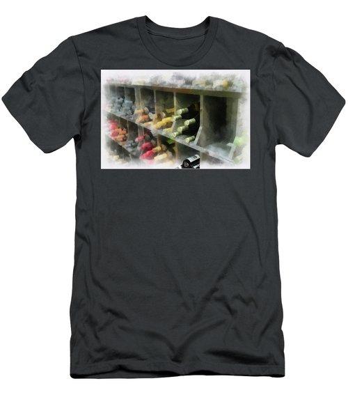 Wine Rack Mixed Media 01 Men's T-Shirt (Athletic Fit)