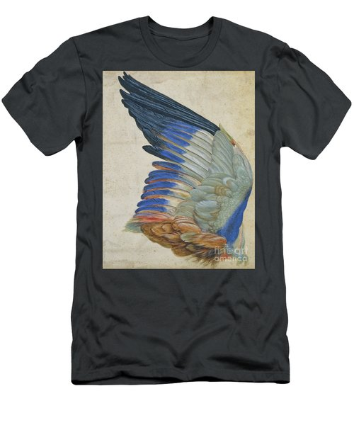Wing Of A Blue Roller Men's T-Shirt (Athletic Fit)