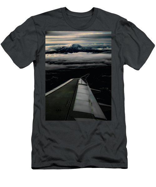 Wings Over Rainier Men's T-Shirt (Slim Fit) by Jeffrey Jensen