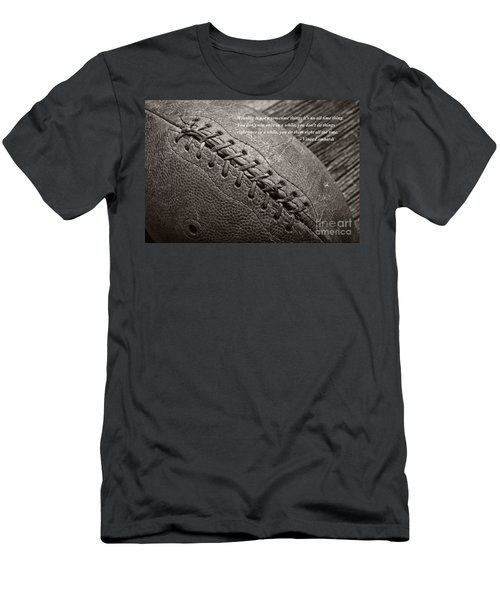 Winning Quote From Vince Lombardi Men's T-Shirt (Athletic Fit)