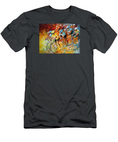 Winning The Tour De France Men's T-Shirt (Athletic Fit)