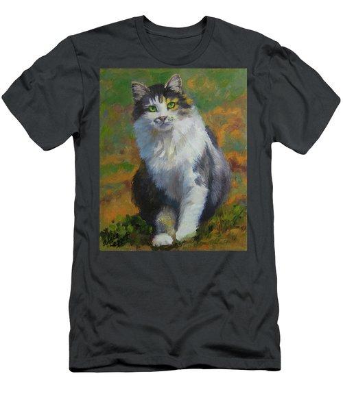 Winston Cat Portrait Men's T-Shirt (Slim Fit) by Alice Leggett
