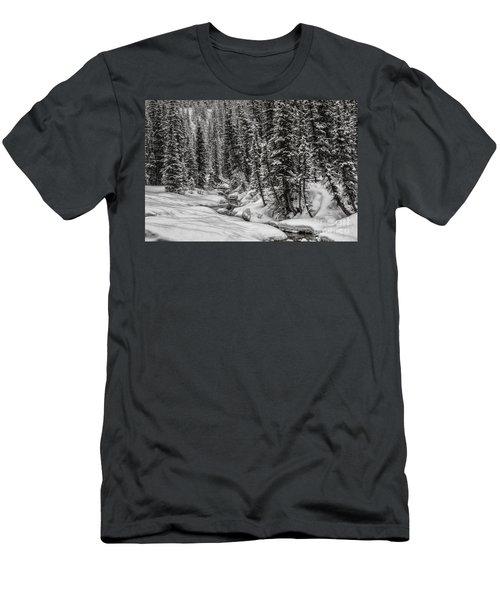 Winter Alpine Creek II Men's T-Shirt (Slim Fit) by Brad Allen Fine Art