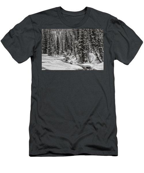 Winter Alpine Creek II Men's T-Shirt (Athletic Fit)