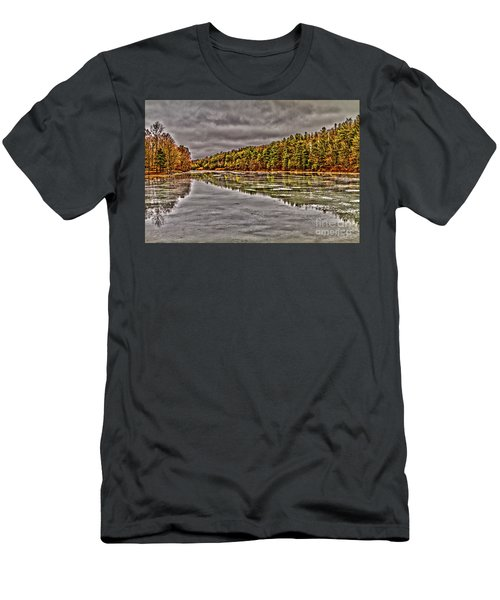 Winter At Pine Lake Men's T-Shirt (Athletic Fit)