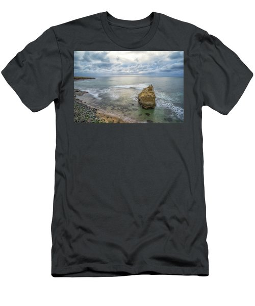 Winter At Sunset Cliffs Men's T-Shirt (Slim Fit) by Joseph S Giacalone
